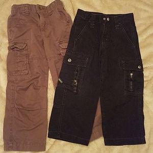 2 Pair Boys Size 4 Cargo Pants